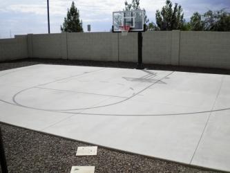 Arizona Backyard Landscape Basketball Court