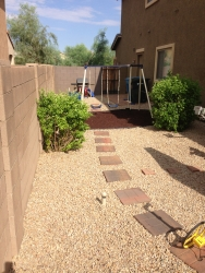Phoenix Landscape Design Backyard Play Area