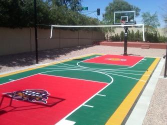 Backyard Designs Arizona Sport Court