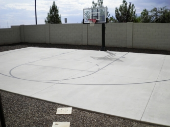 Arizona Backyard Landscape Basketball Court