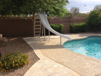 Phoenix Landscape Design Pool Slide
