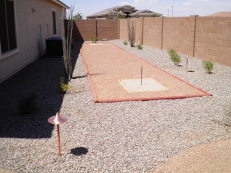 Arizona Landscape Backyard Play Area