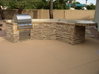 arizona backyard landscape outdoor kitchen