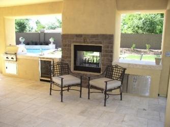 arizona backyard landscape outdoor living