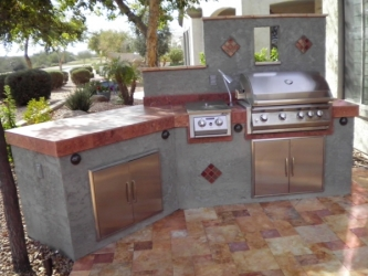 Gilbert Landscaping Arizona Backyard Kitchen