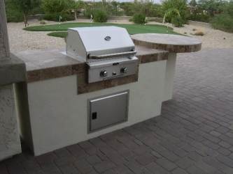 arizona backyard landscape bbq