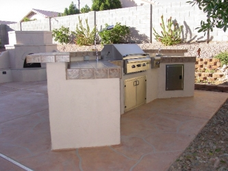 backyard designs arizona outdoor kitchen