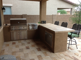 Chandler landscape design outdoor kitchen