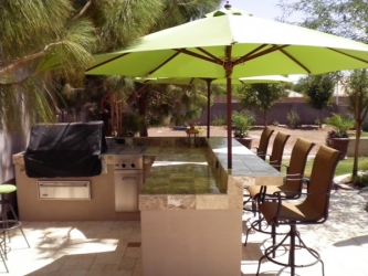 Tempe Backyard Landscape Design BBQ