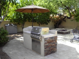 arizona landscape design BBQ
