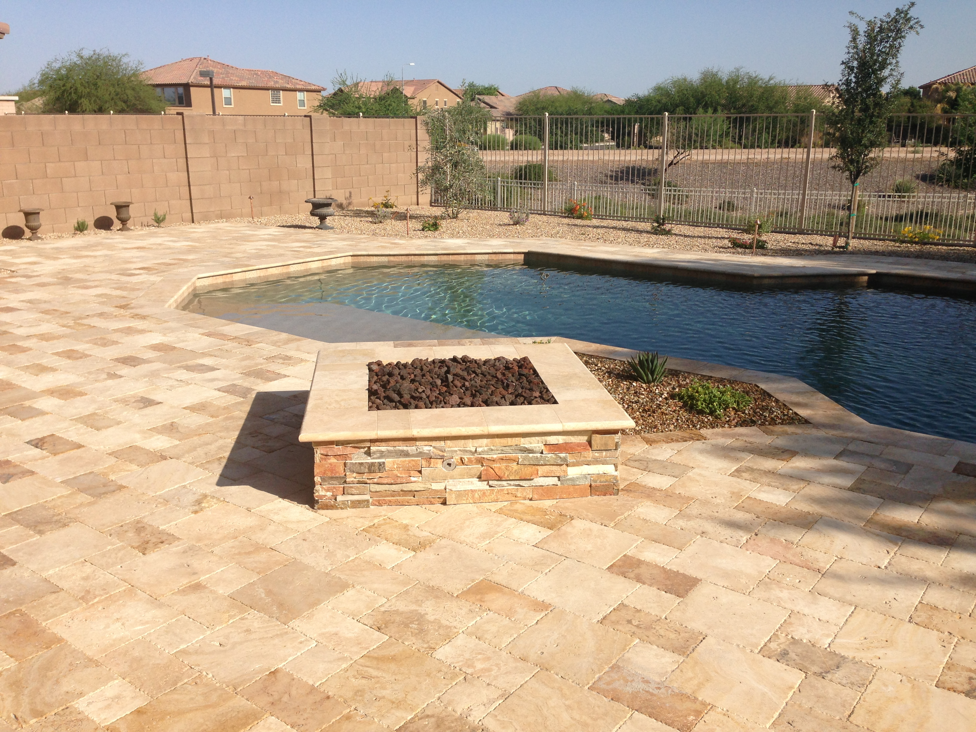 Chandler landscape design fire pit