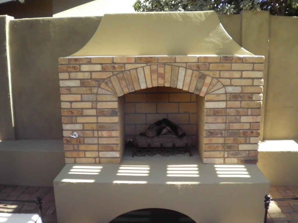 Arizona Landscape Design Patio Fireplace