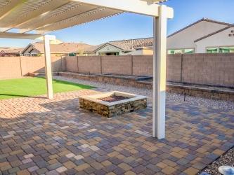 AZ Backyard Landscape Patio Firepit