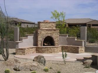 Backyard Designs Arizona Outdoor Fireplace
