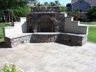 Gilbert Landscape Design Outdoor Fireplace