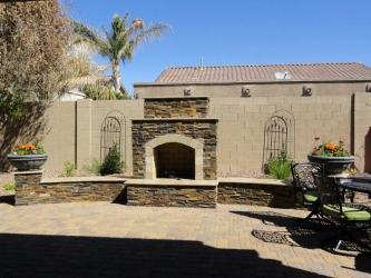 Arizona Landscaping Patio Fireplace