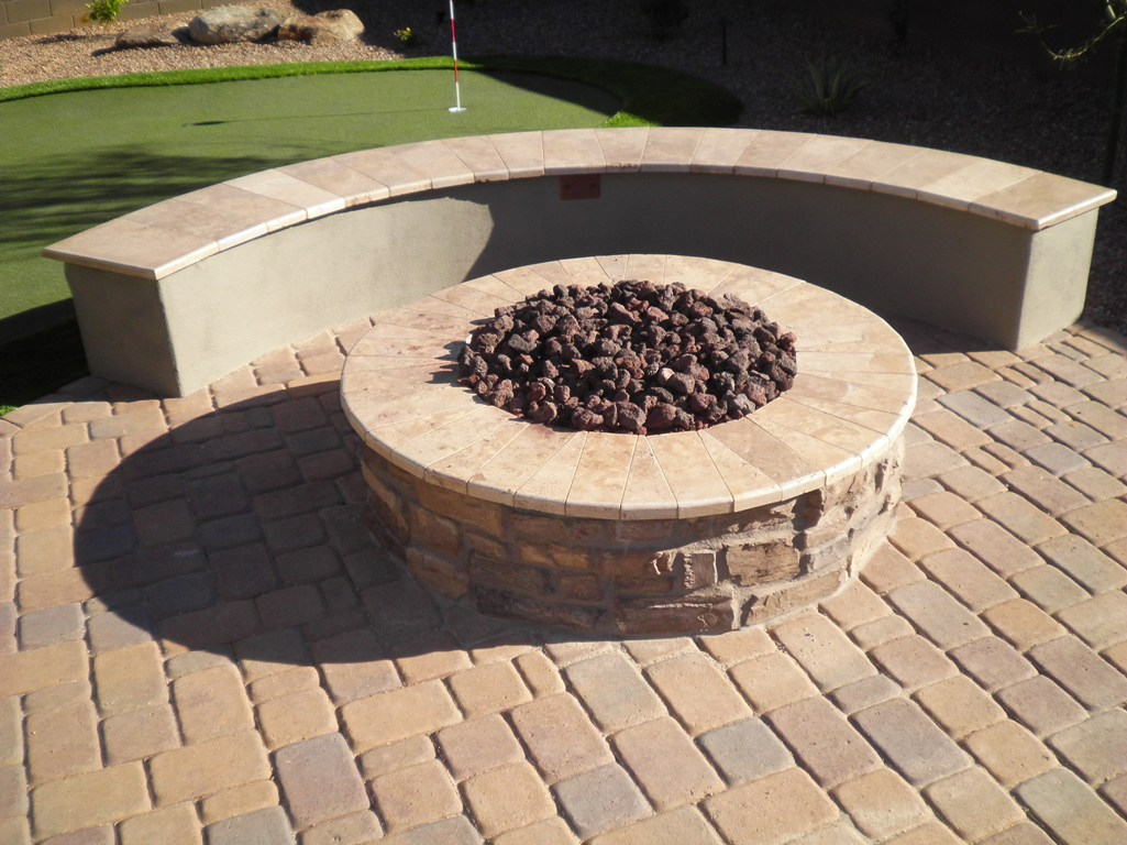 Phoenix Landscaping Backyard Fire Pit