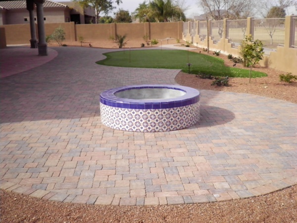 Gilbert Landscape Design Backyard Firepit