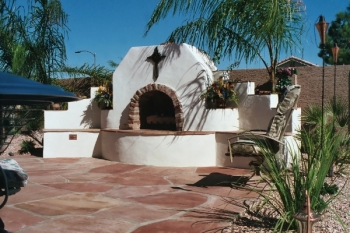 Arizona Landscape Design Outdoor Fireplace