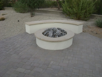 Arizona Landscape Patio Fire Pit