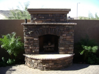 Backyard Designs Arizona Outdoor Fireplace