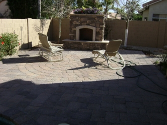 Backyard Designs Arizona Fireplace