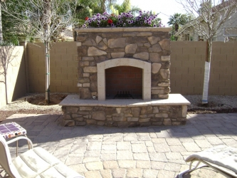 Arizona Landscape Patio Fireplace