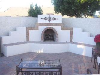 Backyard Designs Arizona Patio Fireplace