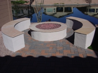 Arizona Landscape Backyard Firepit