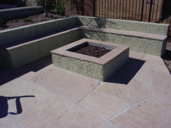 Backyard Designs Arizona Patio Firepit