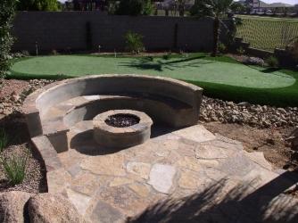Gilbert Landscape Design Firepit