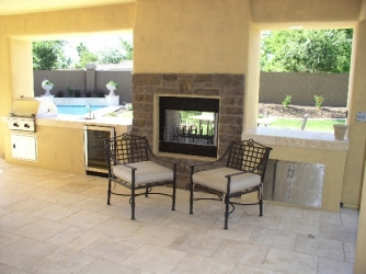 Arizona Living Outdoor Fireplace