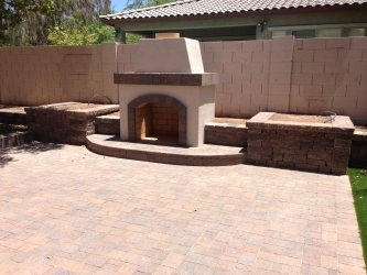 Chandler Landscape Design Patio Fireplace