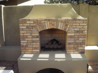 Arizona Landscape Design Patio Fireplace