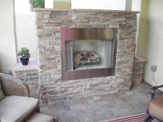 Arizona Landscape Outdoor Fireplace
