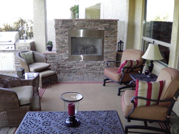 Arizona Backyard Design Outdoor Fireplace - Arizona Backyard Designs -