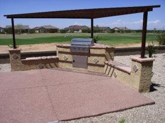 Backyard Landscape Arizona Pergola