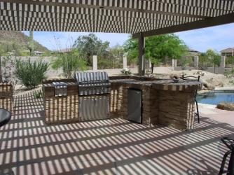 Arizona Backyard Landscape Outdoor Living Pergola