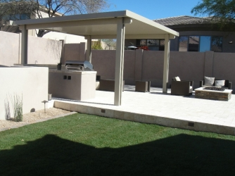Scottsdale Landscape Backyard Pergola