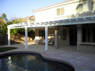 Arizona Backyard Landscape Patio Cover