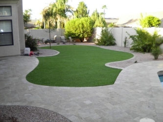 Arizona Backyard Design Travertine Paver Patio