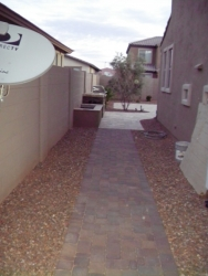 Arizona Backyard Design Paver Walkway