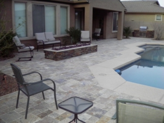 Arizona Landscape Overlay Paver Pool Deck