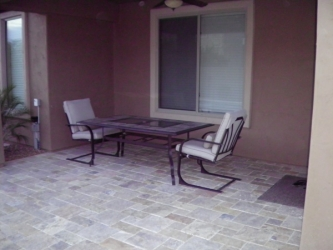 Backyard Landscape Arizona Paver Patio