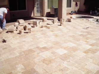 Gilbert Landscaping Paver Patio Install