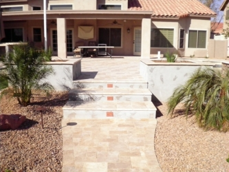 Gilbert Landscaping Paver Patio, Stairs, & Walkway