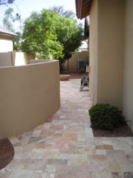 Gilbert Landscape Travertine Paver Walkway