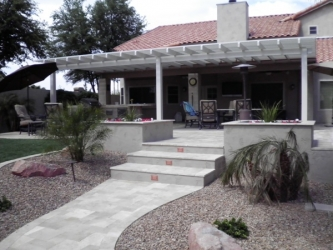 Arizona Backyard Landscape Paver