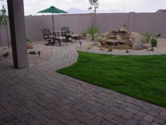 Arizona Landscape Paver Patio and Walkway