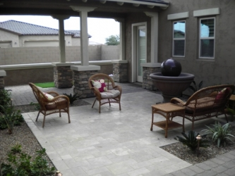Arizona Backyard Landscape Paver Patio
